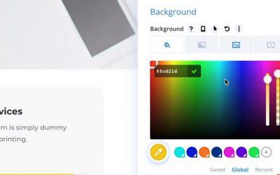 Global Colors System da Divi!