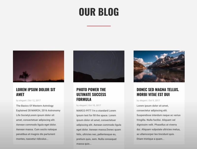Módulo Divi Blog