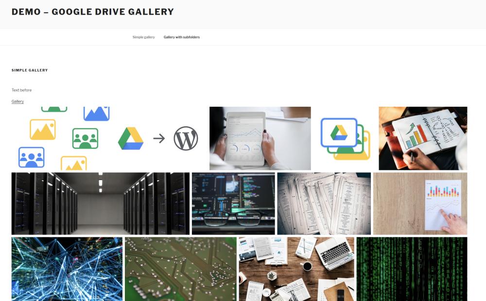 Plugin – Imagens do Google Drive
