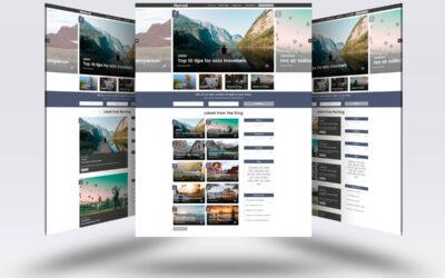 Modelo de postagem de blog com o Divi's Theme Builder