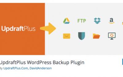 Plug-in de backup UpdraftPlus WordPress